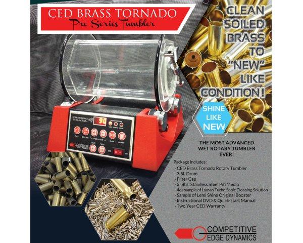CED Brass Tornado Tumbler
